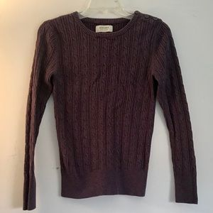 Sonoma | purple cable knit sweater